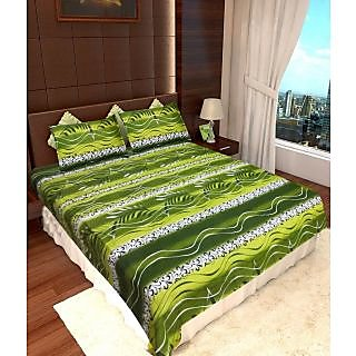 Homefab India 100 cotton Double Bed Sheet With 2 Pillow Covers (DBS053)