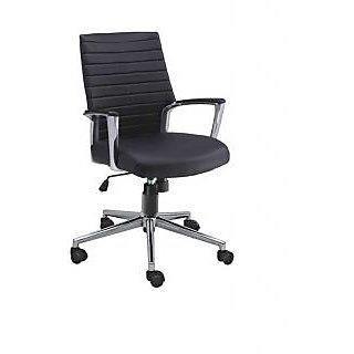 Mavi Executive Black Medium Back Chair-DMB-432