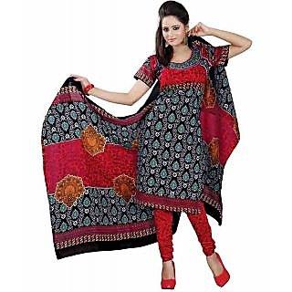 Venisa Casual Wear Printed Polyster Cotton Suit Un-Stitched Salwar Suit