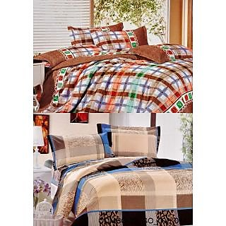 Valtellina set of 2 Double Bad Sheets with 4 pillow covers(COMBO-39GO-002014)