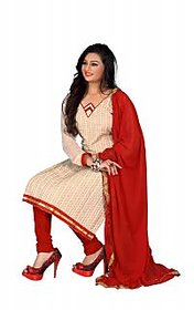 Florence Beige Chandani vol 2 Embroidered Chanderi Cotton Suit