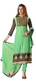 Florence Green Queen Embroidered Pure Cotton Suit (Unstitched)