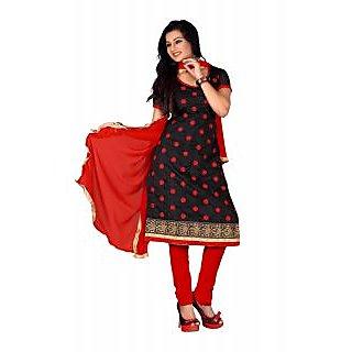 Florence Black Chandani vol 2 Embroidered Chanderi Cotton Suit
