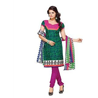 Florence Green Lado Rani Vol-6 Printed  Polyster Cotton Suit (Unstitched)