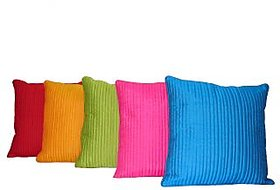 Home Shine Cushion Cover Quilting With Matching Dori Multicolor 5 Pc hs0044
