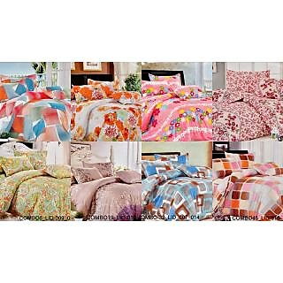 Valtellina Charming  Single Bed Sheet Combo of 8(COMBO-6LID912101371423)
