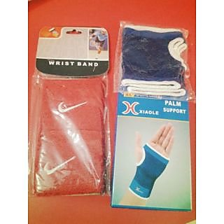 COMBO PACK OF PALM SUPPORT AND WRIST BAND (FOR BOTH HANDS)
