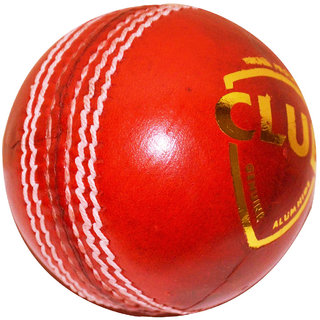 CLUB 4 pc LEATHER CRICKET BALL - PACK OF 6