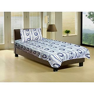 Homefab India Cotton Single Beds Sheet With 1 Pillows Covers (Single122)