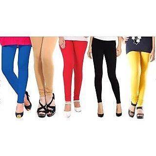Trusha Pack of 5 Multicolor Lycra Legging