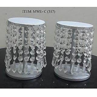 Crystal Votive Candle Holder Set Of 2pcs For Home Decoration Wedding Gift