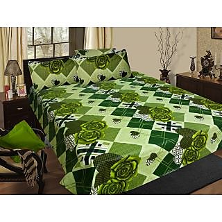 Homefab India 100 cotton Double Bed Sheet With 2 Pillow Covers (DBS067)