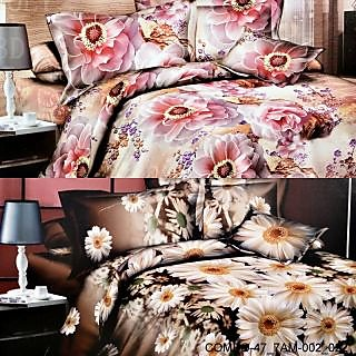 Valtellina set of 2 double bedsheet with 4 pilow covers(COMBO-47_7AM-002_022)