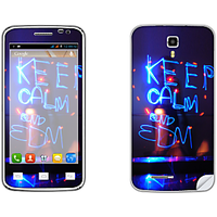 Skintice Premium Vinyl Skin For Micromax Canvas Juice A77, Design - Keep Calm And Edm