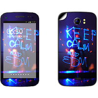 Skintice Premium Vinyl Skin For Micromax Canvas 2 A110, Design - Keep Calm And Edm