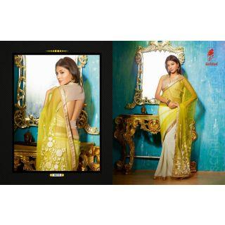 Party wear Half & Half Net Saree with Designer Blouse