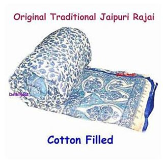 Shoppingatara Cotton Jaipuri  Single Razai
