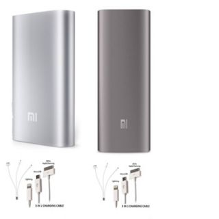 Pack Of 2 Mi 10400 MAH Power Bank  With Set 2,  3 In 1 Usb Charger