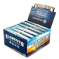Elements King Size Slim Rolling Paper With Tips-33 Leaves