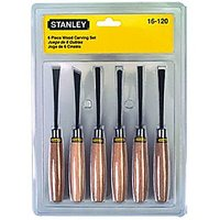 Stanley Wood Carving Set-6pcs 16-120