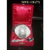 Brass Silver Plating Cutlery Bowl In Gift Box
