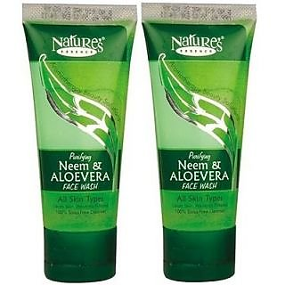 Nature's Essence Neem And Aloevera Face Wash 50ml (Pack Of 2)