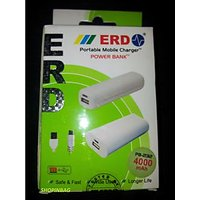 ERD 4000 MAh Portable USB Mobile Charger Power Bank With Warranty. 100% Original