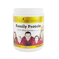 Family Protein 100%  Whey Protein (Unflavoured) By Natures Velvet 400gms