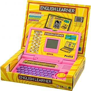 Prasid English Learner Kids Laptop (PinkPurple)