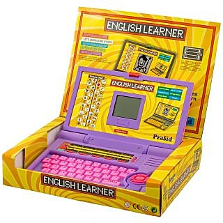 Prasid English Learner Kids Laptop (PurplePink)