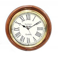Vintage Style Antique Finish Wooden Clock Gift And Decor Item