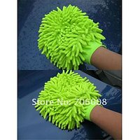 Microfiber Cleaning Gloves Wash Mitt 1no Hand Duster Car Cleaning Bike Clean