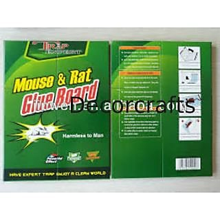 Set of 2 Mouse Rat,Cockroaches Chipkali Insects trap. Adhesive Glue Board Trap.