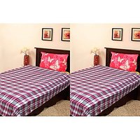 Handloom World  Combo Of Red Blankets