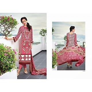 Erradesigner Pink Cotton Dress Material Roma6398 (Unstitched)