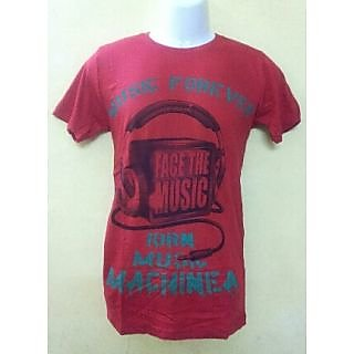revin branded red with green colour round neck quality tshirt