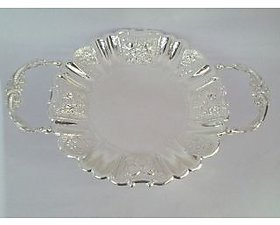 Silver  round tray with handle