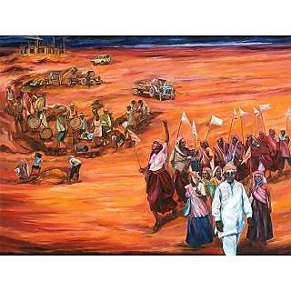 Do Bigha Zameen 2011 Oil Painting