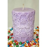 Designer Aroma Carved Pillar Candle