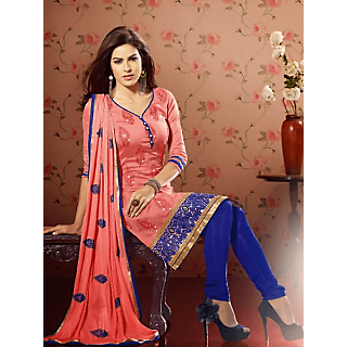 22f6d1a2cfc0 Ladies Beautiful Unstitched Chanderi And Jacquard Dress Material Blue And  Peach Prices in India- Shopclues- Online Shopping Store