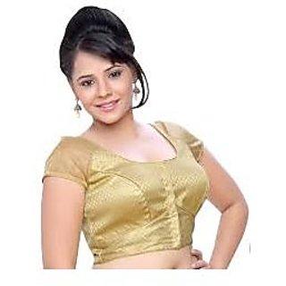 Designer Readymade Silk Blouse Golden