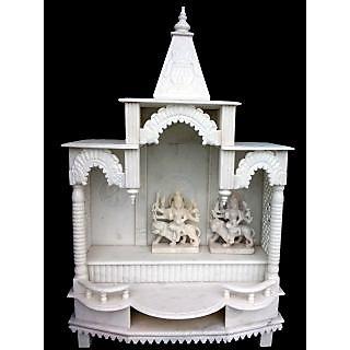 Decorative Marble Mandir White