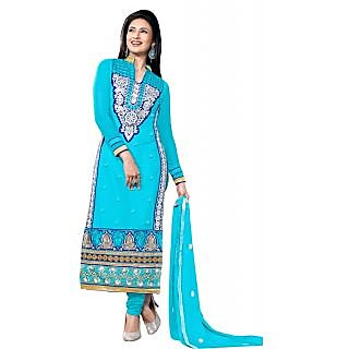 Florence Blue mohabbatein Embroidered Chanderi Cotton Suit