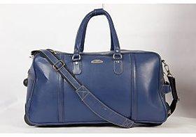 Stamp Leather Elegant Leather Unisex Duffle Bag DF12407BL