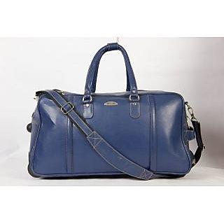 a033e79e6c1 Stamp Leather Elegant Leather Unisex Duffle Bag DF12407BL