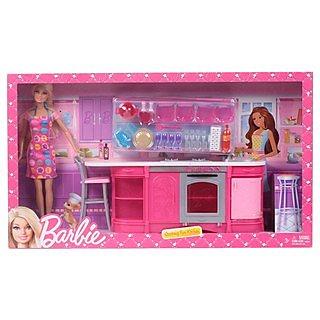 Shop Barbie Cooking Fun Kitchen Doll Online Shopclues