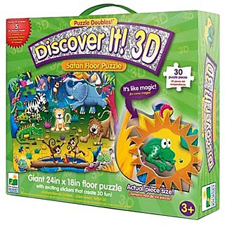 Learning Journey Puzzle Doubles - 3D Discover it! Floor Puzzles Safari