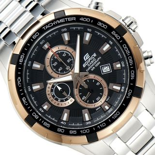 CASIO EDIFICE EF 539D-1A5VDF BLACK COPPER CHRONOGRAPH MENS WRIST WATCH GIFT