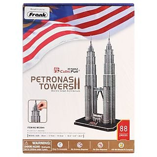Frank Puzzles Architecture  - Petronas Towers 3D - 88 Pieces