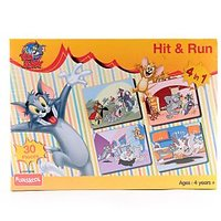 Funskool Tom And Jerry Hit And Run 4-In-1 Puzzle Game